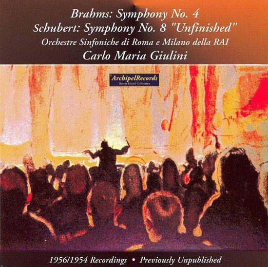 Brahms: Symphony No.4 (Rome 1956), Schubert: Sym 8