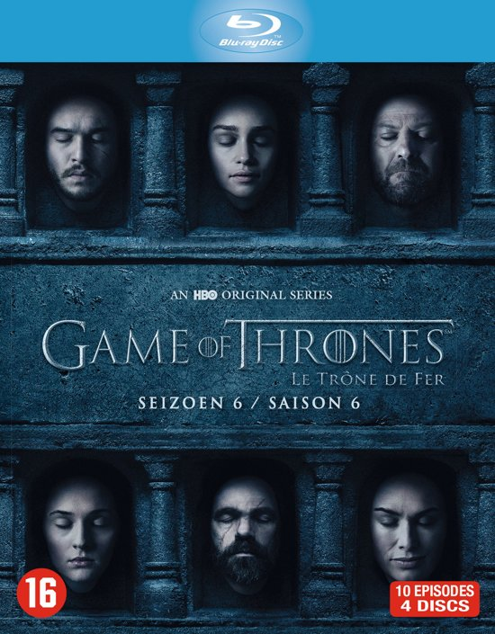DVD cover van Game Of Thrones - Seizoen 6 (Blu-ray)