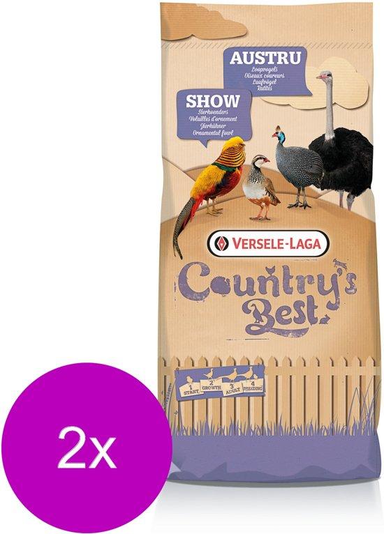 Versele-Laga Country`s Best Show 4 Pellet - Pluimveevoer - 2 x 20 kg