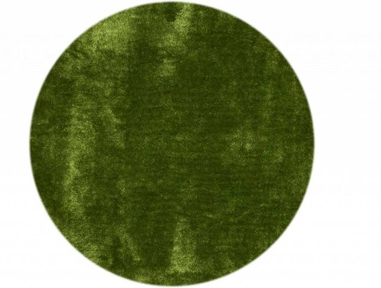 Ross 52 - Rond vloerkleed in felgroene kleursamenstelling