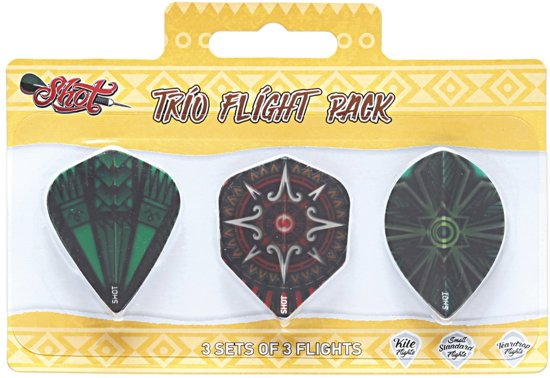 Shot Trio Dartflight Pack
