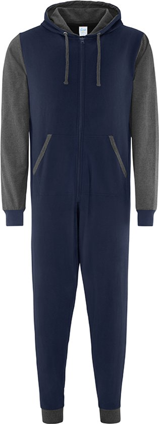 Onesie Contrast all-in-one KLEUR Navy / Charcoal  MAAT  XS