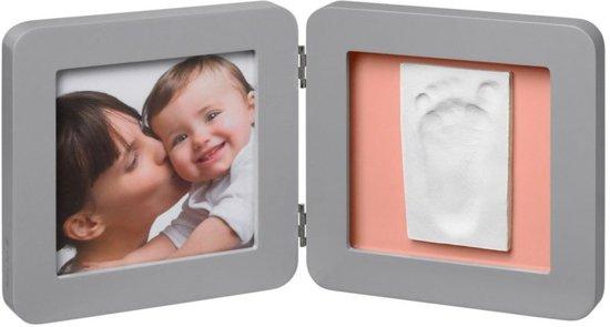 Baby Art dubbel fotolijstje met afdruk My Baby Touch Grey Grijs