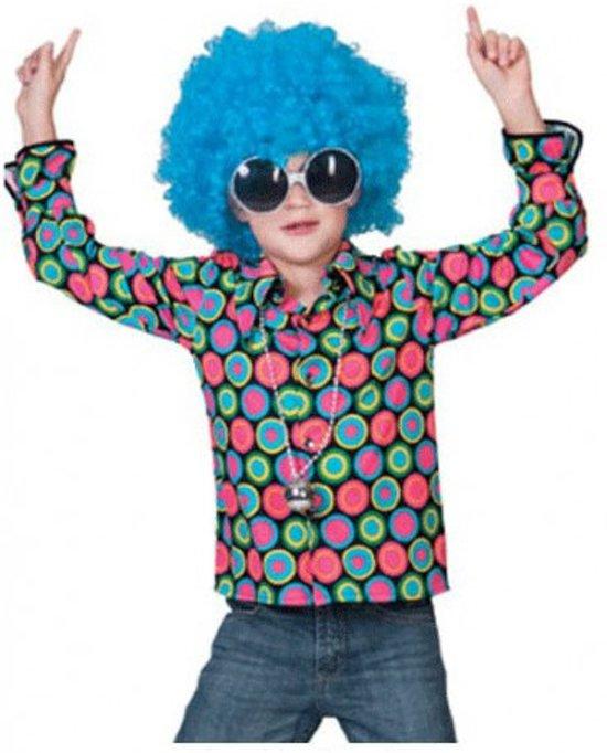Jaren 70 disco overhemd voor kids 116 (6-7 jaar)