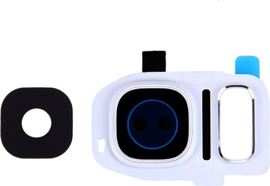 Let op type!! 10 PCS Camera Lens Covers for Galaxy S7 Edge / G935(White)