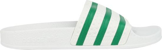 405af7cbce4 bol.com | adidas Adilette - Slippers - Unisex - Maat 47 - Wit/Groen