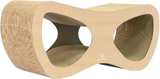 4animalz Lounge Beech - kartonnen krabpaal voor katten -  69x24x29cm