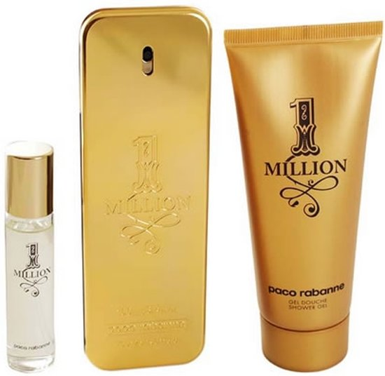 Paco Rabanne One Million Eau de Toilette 100ml + Shower Gel 75ml + EdT Mini 10ml