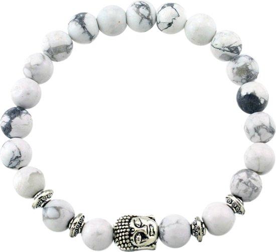 Fako Bijoux® - Buddha Armband - Ring Quatro - Wit