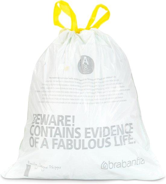 Brabantia Afvalzak Code A - 3 Liter (20 stuks)