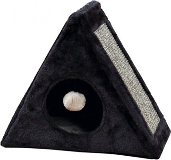 Trixie kattenmand iglo met krabgedeelte antraciet / grijs 44x39x25 cm