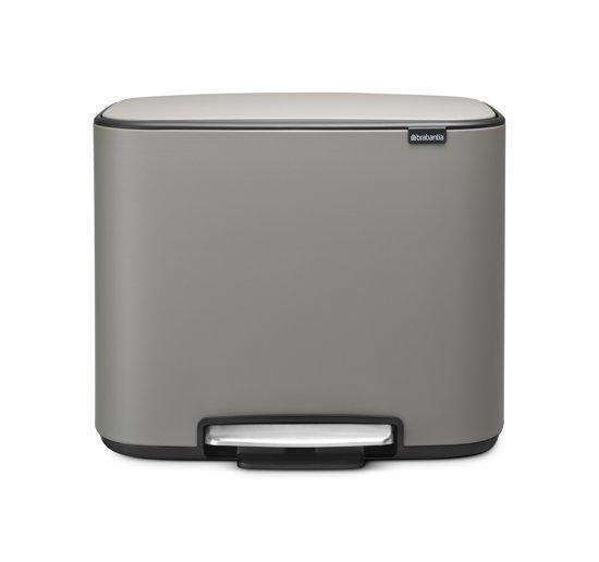 Brabantia Bo Sense of Luxury Prullenbak - 3 x 11 l - Mineral Concrete Grey