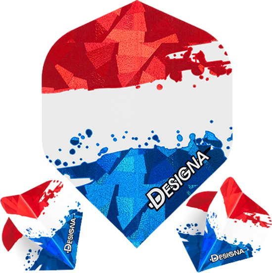 Dragon darts Designa – Nederlandse vlag Flights – darts flights