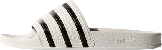 Adidas Unisex Adilette Core White Slippers Black 38 Maat r6rEqzOnP