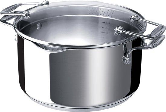 kookpan met afgietdeksel