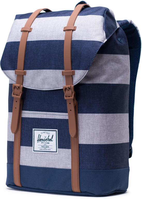 Brown Co Border Herschel Stripe Saddle Retreat Rugzak Supply 0RawBOq