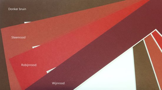 10 stuks Passe-partout Arton, afmetingen 60x80/40x60 cm, dikte 1,4 mm, kleur Wijnrood