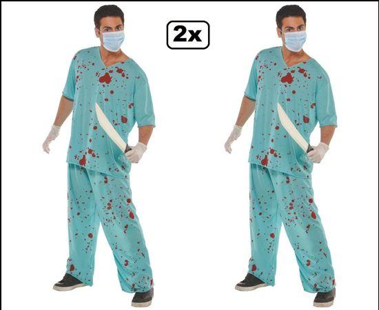 2x Chirurg kostuum one size