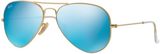 233d38c2117 Ray-Ban RB3025 112 17 - zonnebril - Aviator Flash Lenses - Matte Gold