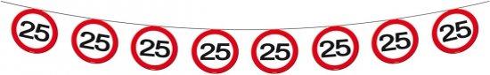 Verkeersbord slinger 25 jaar 12 meter