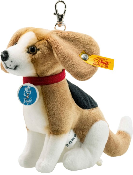 Steiff Nelly Beagle sleutelhanger 12 cm. EAN 355295