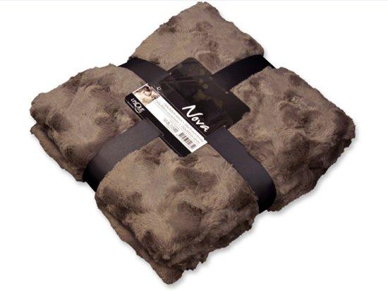 bol plaid fleece 200 x 150 cm taupe