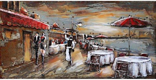 3d Schilderij Metaal.Schilderij Metaal 3d Terras Sea Sid Cafe Cafe Zomer