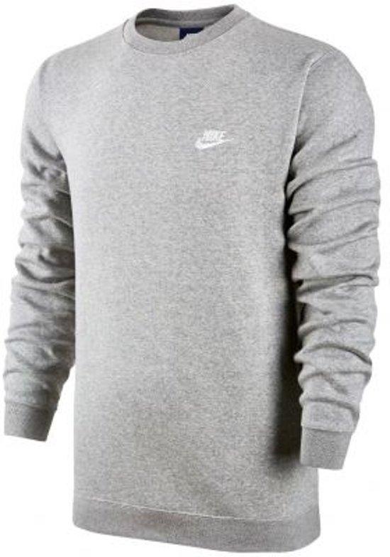 Nike M Nsw Crw Flc Club Sporttrui Heren - Grijs