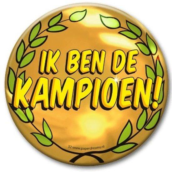 XL Button - Kampioen (Doorsnee 10 cm)