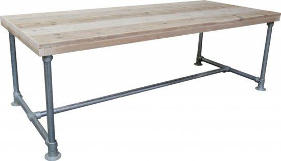 Steigerhouten Tafel Maken : Bol steigerhout tafel steigerbuis