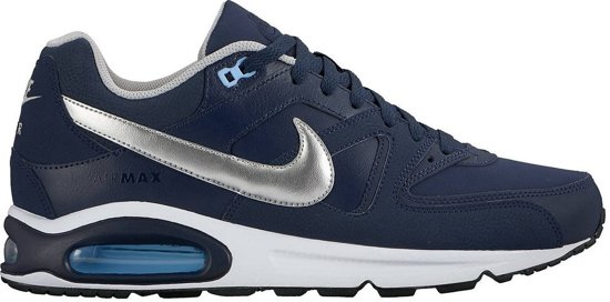 Silver metallic 44 Heren Air Max Command blue Nike Obsidian Leather Sneakers Maat p8SqSA6n