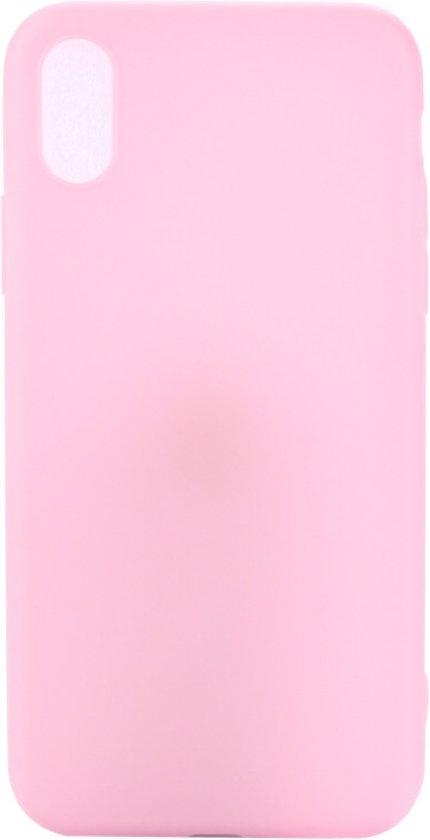 Hoesje voor Apple iPhone X / XS - matte TPU cover - Roze / Pink