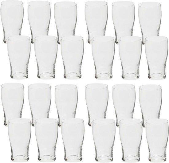 Voordelige bierglazen set van 300 ml 24 stuks - Bierglas/bierglazen