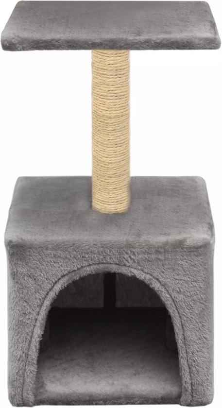 vidaXL Kattenkrabpaal met sisal krabpaal 55 cm grijs