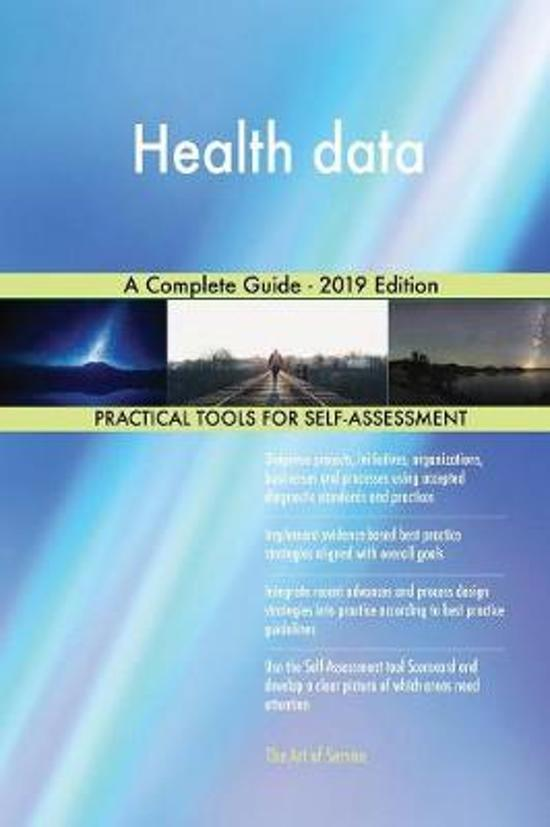 Health data A Complete Guide - 2019 Edition