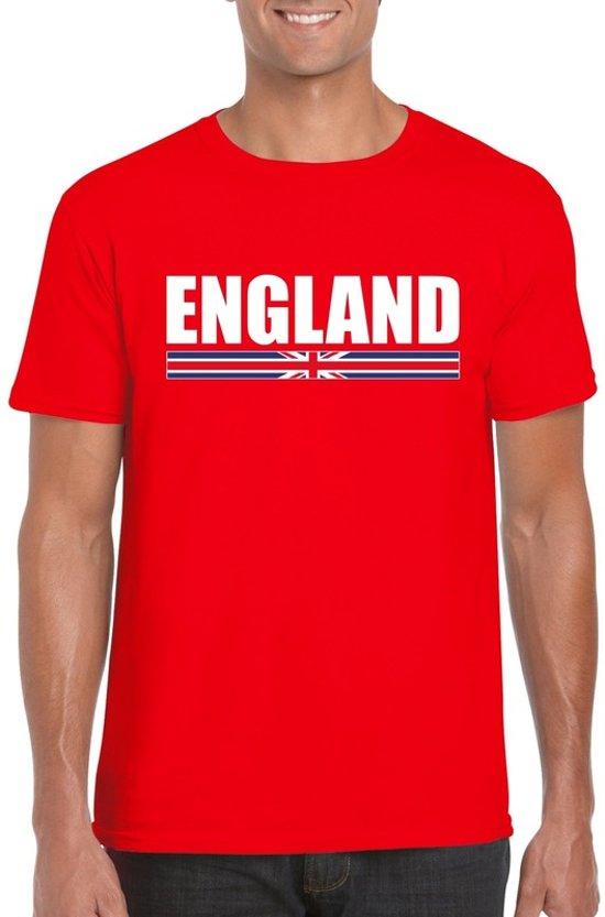 Rood Engeland supporter t-shirt voor heren - Engelse vlag shirts M