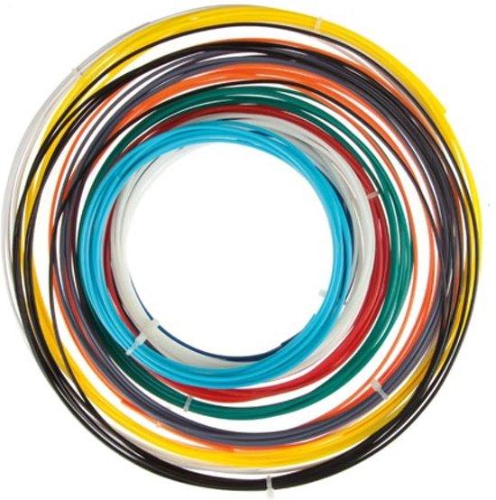Velleman ABS175SET ABS Zwart, Blauw, Groen, Grijs, Lichtblauw, Oranje, Rood, Transparant, Wit, Geel 3D-printmateriaal