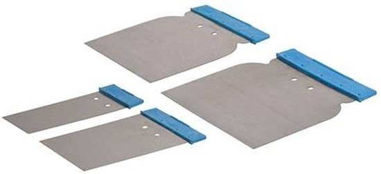 4-delige carosserie plamuurmessen set 50, 80, 100 en 120 mm