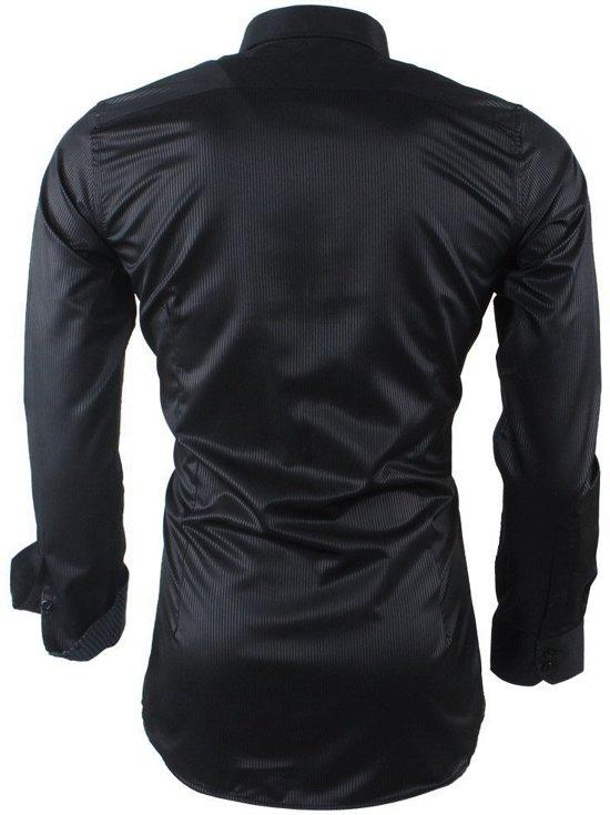 En Strijkvrij Montazinni Overhemd Kreuk Zwart Heren Gestreept IwRT1q