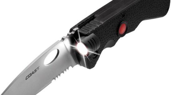 Coast Light Knive Zakmes LK375 mes met zaklamp functie