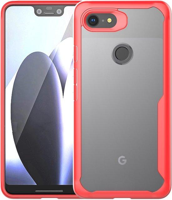 Mobigear Acrylic Schokdempend Hoesje Rood Google Pixel 3XL