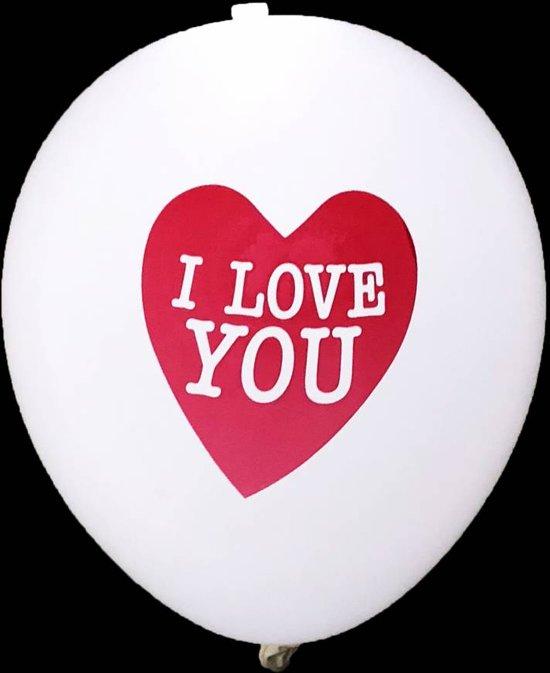 Hartjes Led Ballonnen I Love You 30cm 5 stuks
