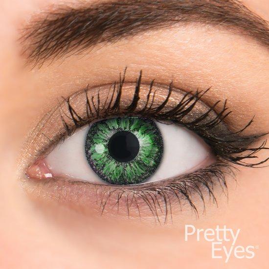 82de5877f860af Pretty Eyes kleurlenzen groen -1