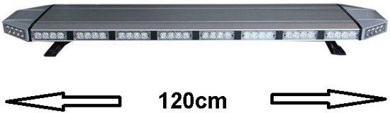 Zwaailicht ORANJE/WIT LED Light Bar XXL 120cm professioneel