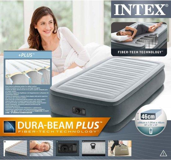 Intex Luchtbed comfort pluche twinsize 191x99x46 cm 64412