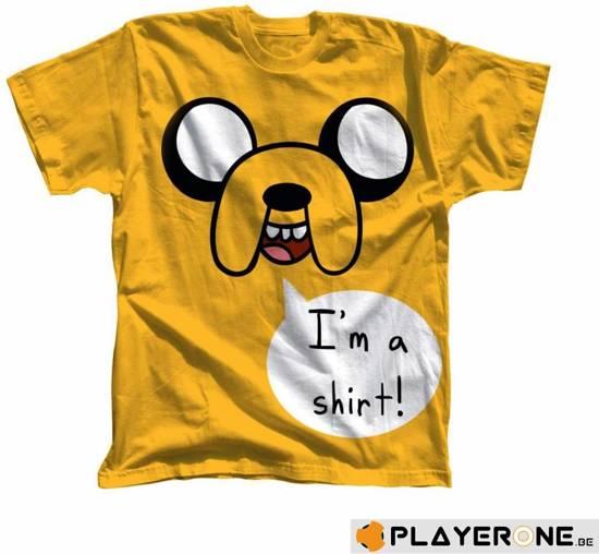 Adventure Time T-shirt Geel Im a Shirt Maat S