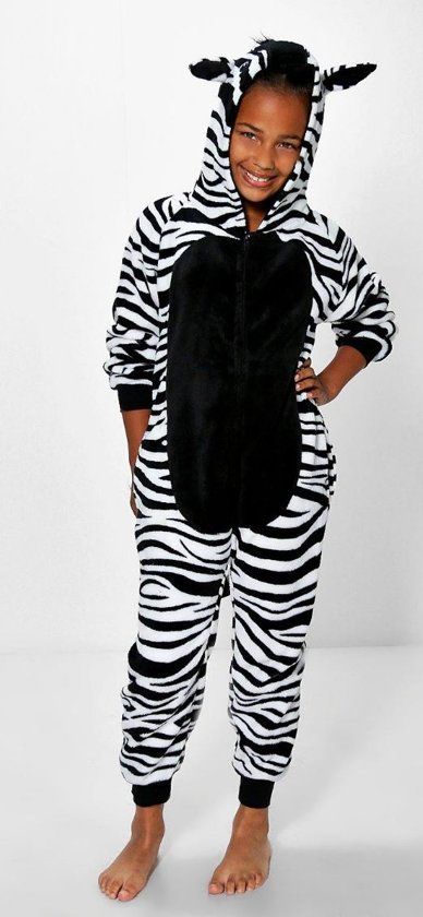 77dd0d80fd7 bol.com | Onesie ZEBRA hooded supersoft kids series, Merkloos ...