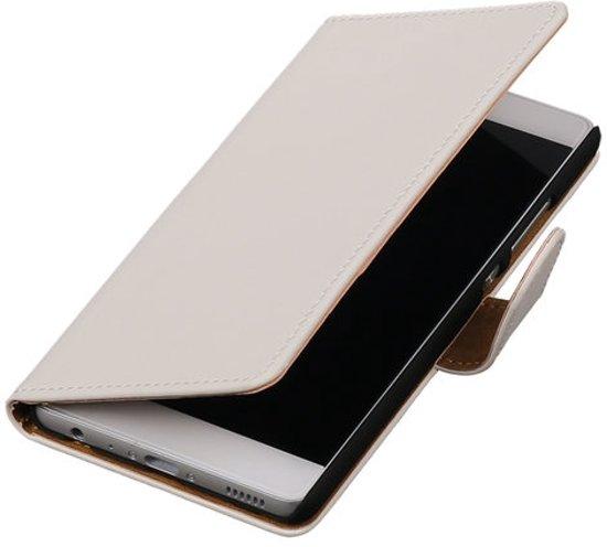 BestCases.nl Huawei Honor 6 Effen booktype hoesje Wit in Zandberg