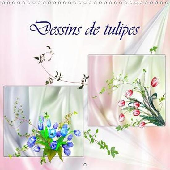 Bolcom Dessins De Tulipes Calendrier Mural 2019 300 300 Mm Square
