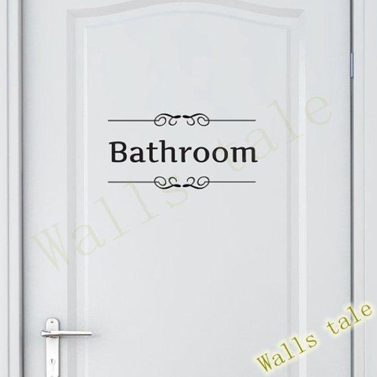 Sierletters Voor Op De Muur.Bol Com Badkamer Bathroom Sticker Vintage Muur Deur Sticker Raam